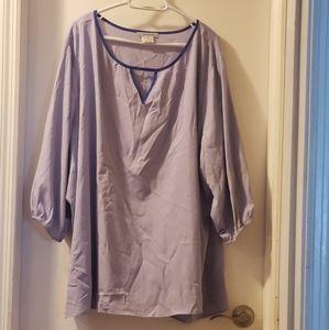 NWOT Lavender 3/4 Sleeve Blouse